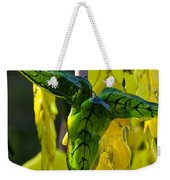 Green Glass Leaves Weekender Tote Bag