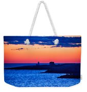 Green Glow Against Rosy Red Dawn Weekender Tote Bag