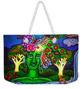 Green Goddess With Waterfall Weekender Tote Bag