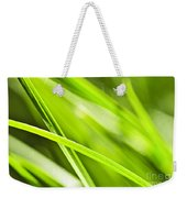Green Grass Abstract Weekender Tote Bag