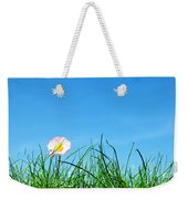 Green Grass And A Flower Weekender Tote Bag