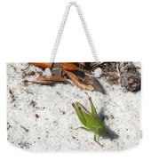 Green Grasshopper Weekender Tote Bag