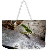 Green Grasshopper On Axe Weekender Tote Bag