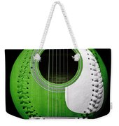 Green Guitar Baseball White Laces Square Weekender Tote Bag