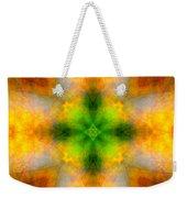 Green Heart Rainbow Light Mandala Weekender Tote Bag
