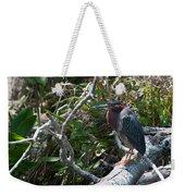 Green Heron 1 Weekender Tote Bag