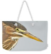 Green Heron Close-up Weekender Tote Bag