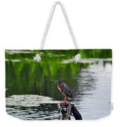 Green Heron Perch Weekender Tote Bag