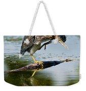 Green Heron Pictures 488 Weekender Tote Bag