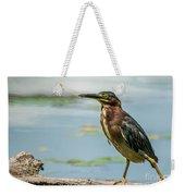 Green Heron Tongue Weekender Tote Bag