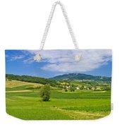 Green Hills Nature Panoramic View Weekender Tote Bag