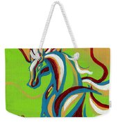 Green Horse Weekender Tote Bag by Genevieve Esson
