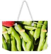Green Jalpeno Peppers Weekender Tote Bag