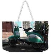 Green Vespa Weekender Tote Bag