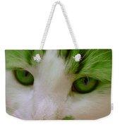 Green Kitten Weekender Tote Bag