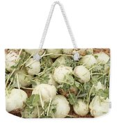 Green Kohlrabi Basket Display Weekender Tote Bag
