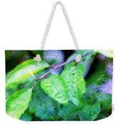Green Leaf As A Painting Weekender Tote Bag