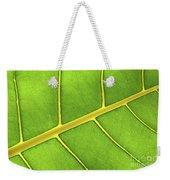 Green Leaf Close Up Weekender Tote Bag by Elena Elisseeva