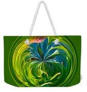 Green Leaf Orb Weekender Tote Bag