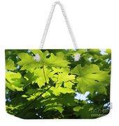 Green Leaves Canvas Weekender Tote Bag