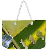 Green Leaves Series  5 Weekender Tote Bag