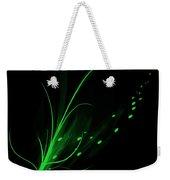 Green Lotus Weekender Tote Bag