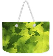 Green Maple Leaves Weekender Tote Bag by Elena Elisseeva