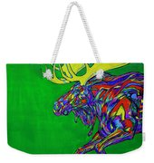 Green Mega Moose Weekender Tote Bag