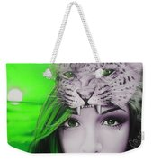 Green Moon Weekender Tote Bag