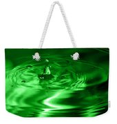 Green Multi Colored Water Drop Bubbling Weekender Tote Bag