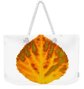 Green Orange Red And Yellow Aspen Leaf 1 Weekender Tote Bag