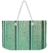 Green Painted Wood Weekender Tote Bag