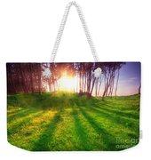 Green Park At Sunset Weekender Tote Bag by Michal Bednarek