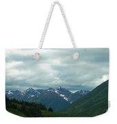Green Pastures And Mountain Views Weekender Tote Bag