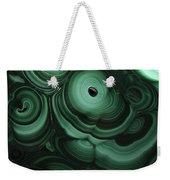 Green Patterns Of Malachite Weekender Tote Bag