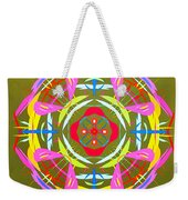 Green Pink Yellow Abstract Weekender Tote Bag