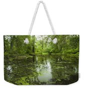 Green Blossoms On Pond Weekender Tote Bag