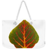 Green Red And Yellow Aspen Leaf 4 Weekender Tote Bag