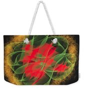 Green Red Gold Abstract Weekender Tote Bag