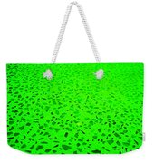 Green Representational Abstract Weekender Tote Bag