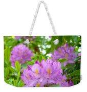 Green Rhododendron Floral Garden Pink Purple Art Prints Weekender Tote Bag