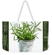 Green Rosemary Herb In Small Pot Weekender Tote Bag