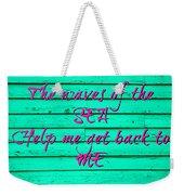 Green Sea Weekender Tote Bag