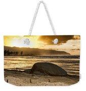 Green Sea Turtle At Sunset V2 Weekender Tote Bag