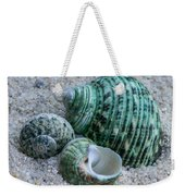 Green Seashells Weekender Tote Bag