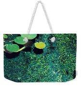 Green Shimmering Pond Weekender Tote Bag