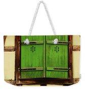 Green Shutters In Colmar France Weekender Tote Bag