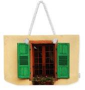 Green Shutters In Niedermorschwihr France Weekender Tote Bag