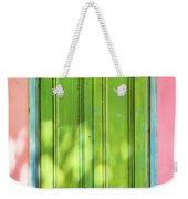 Green Shutters Pink Stucco Wall 2 Weekender Tote Bag