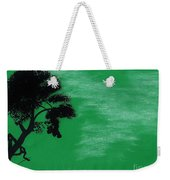 Green Sky Sunset Weekender Tote Bag
